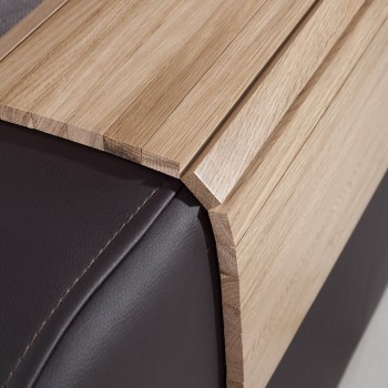 Mata drewniana na sofę, podłokietnik 50x40
